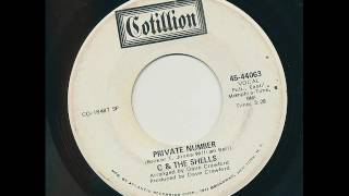 C & THE SHELLS Private Number. Promo Cotillion 45-44063. Memphis