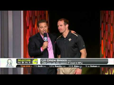 Drew Brees goes No. 17 in 2015 Pro Bowl Draft