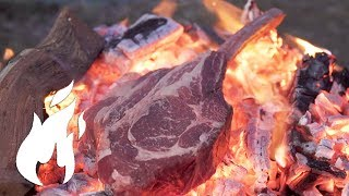 The ULTIMATE Caveman steak ASMR style grilled🔥🔥🔥