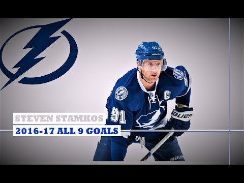 Steven Stamkos (#91) ● ALL 9 Goals 2016-17 Season (HD)