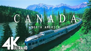 CANADA 4K  Música relajante junto con hermosos videos de la naturaleza  Video 4K UltraHD