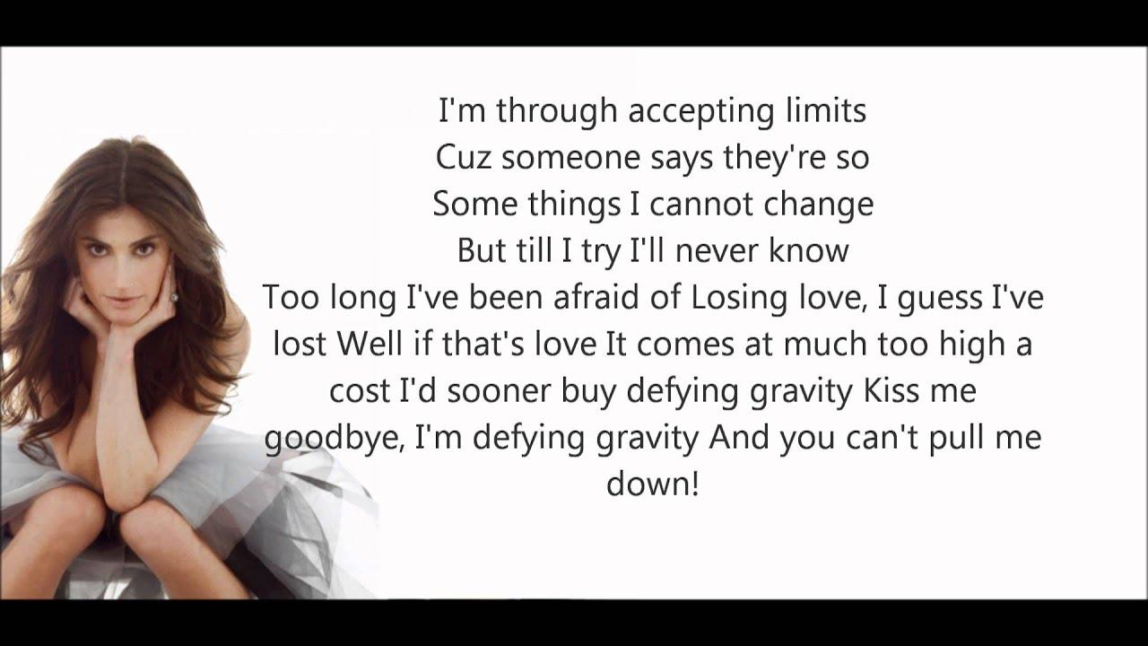 Idina Menzel-Defying Gravity Lyrics HD - YouTube  Idina Menzel-De...