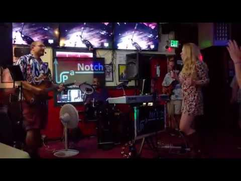 Up a Notch band plays Funky Music at Sports Page bar, 7/13/2018