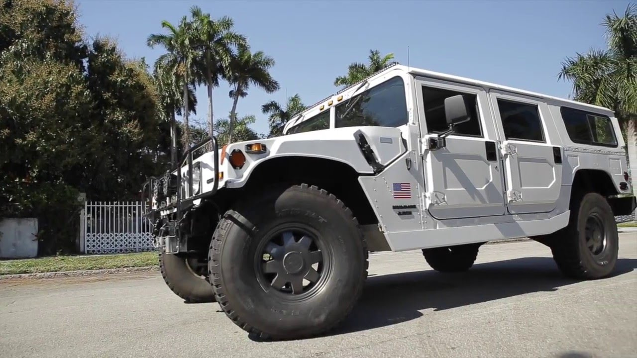 1997 hummer h1 white am general one of a kind