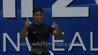 Katulu Ravi Kumar wins Gold in Men's 69kg weightlifting at an international competition