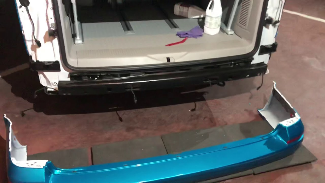 Removing The Rear Bumper Of A T6 | VW T6 Forum - The