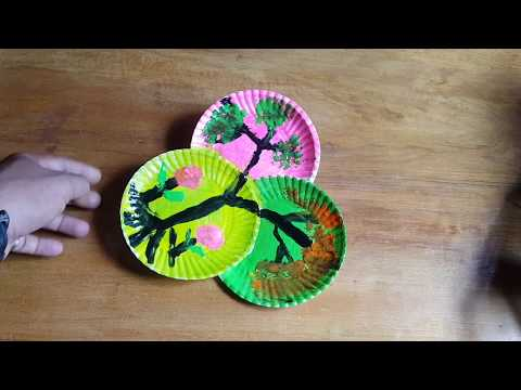 DIY, Decorate Your room with paper plate and glue gun art