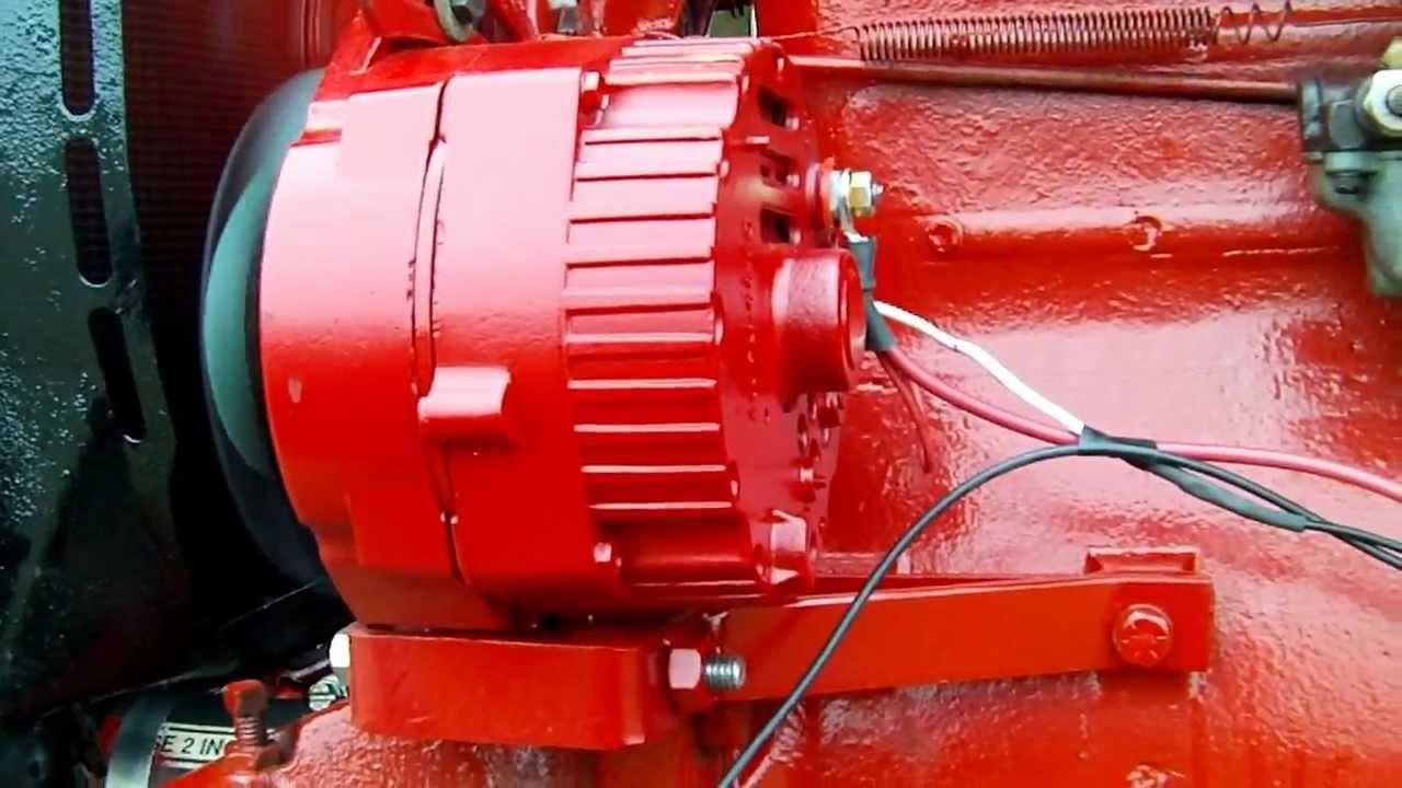 12 Volt Alternator Wiring Diagram 2000 Ford F150 Power Window Farmall Super A - Youtube