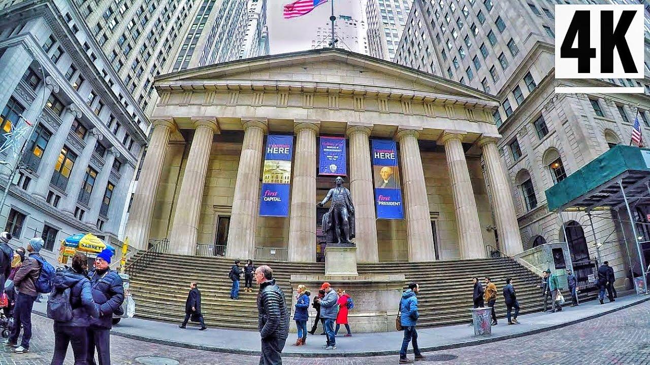 ⁴ᴷ⁶⁰ downtown manhattan new york city walking tour 2020