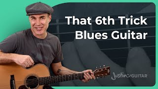 The Interval of a 6th Trick - Blues Guitar for Beginners