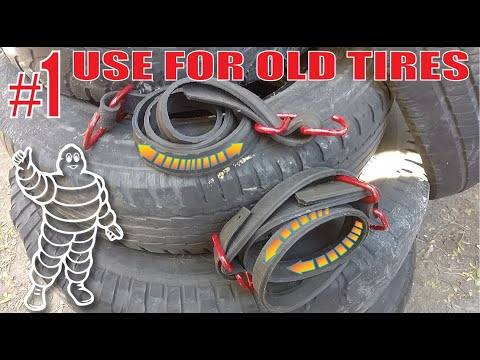 HEAVY DUTY Bungee Cords. BEST Use For Old TIRES!
