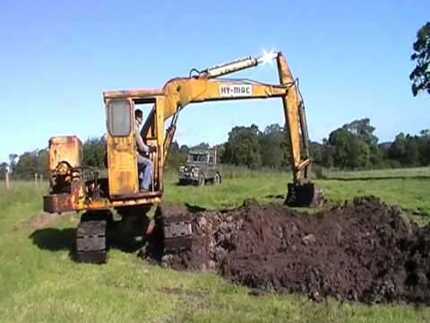 Vielle pelle hy mac hm 1080 old hy mac excavator hm 1080 for Construction piscine rnu