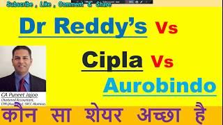 Dr Reddys Lab Vs.  Cipla Ltd  Vs.  Aurobindo Pharma Share |Stock Comparative Analysis | Latest News