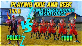 PLAYING HIDE AND SEEK FINDING THESE NOOBS IN SKILODG CHALLENGE😮 1Vs8 WHO WILL WIN? #factoryfreefire