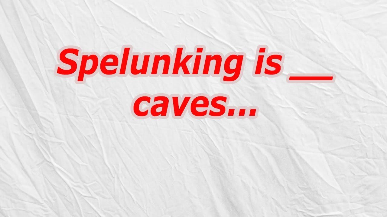 Spelunking is caves (CodyCross Crossword Answer) - YouTube