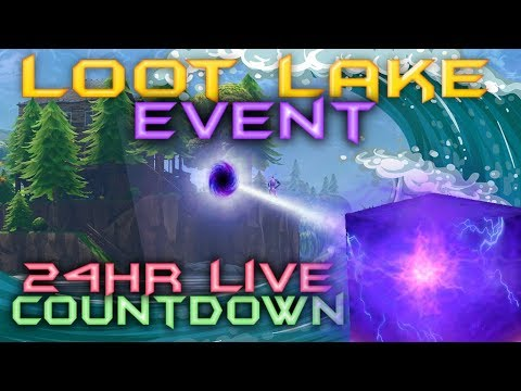 FORTNITE - 24HR LIVE CUBE EVENT - CUBE IS MOVING NOW - LOOT LAKE EVENT COUNTDOWN LIVE