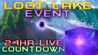 FORTNITE - 24HR LIVE CUBE EVENT - CUBE IS MOVING NOW - LOOT LAKE EVENT COUNTDOWN LIVE thumbnail