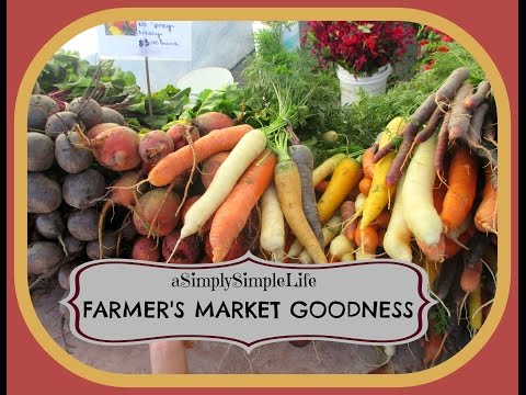 Farmer's Market Goodness - September 10, 2015 - aSimplySimpleLife Vlog