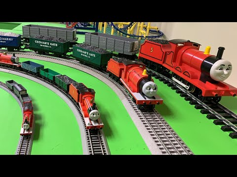 JAMES THE RED ENGINE in 4+ SCALES! N, HO, OO, O, and G! Thomas and Friends Trains