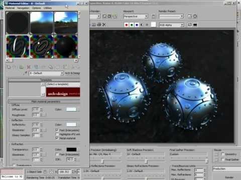 Brushed Glossy Metal - 3ds Max Mental Ray Sampling Tutorial