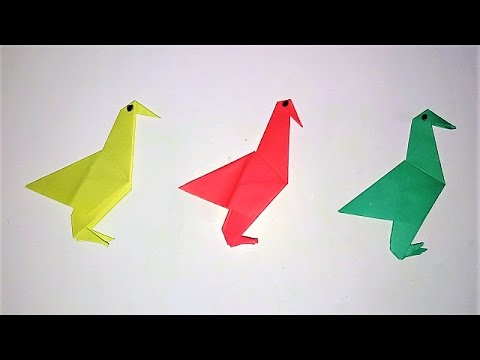 How To Make An Origami Flapping Birds Paper Birds That Flaps Its