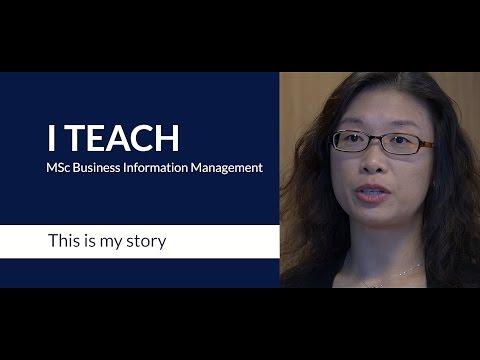 A teacher on the RSM MSc in Business Information Management programme