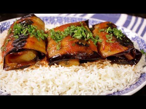 How to make Vegetarian Eggplant Rolls (Assyrian Food)