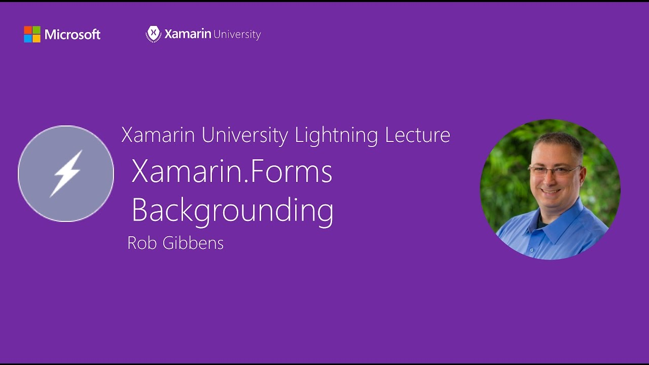 Backgrounding with Xamarin Forms