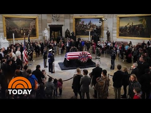 President George H.W. Bush Lies In State At Capitol | TODAY