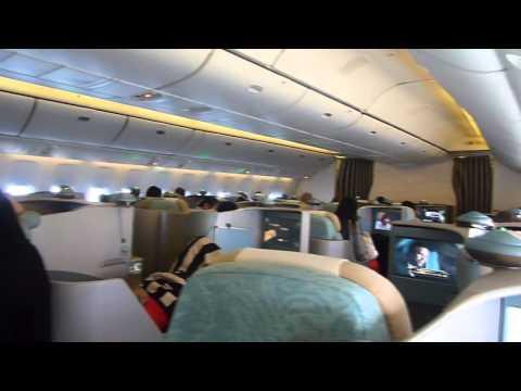 Etihad Airways B777 300ER Business Class Abu Dhabi To Bangkok Full Flight