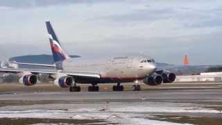 ИЛ-96 взлет в аэропорту Зальцбурга / Iljuschin Il 96 in Salzburg + Take off