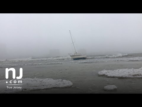 Swirling winds toss boat and waters in N.J.