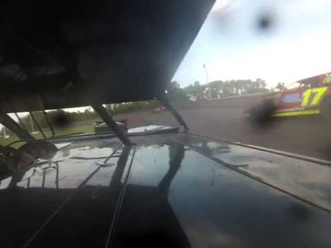 Norman County Raceway Bryce Borgen A Mod Heat Race 6-13-13