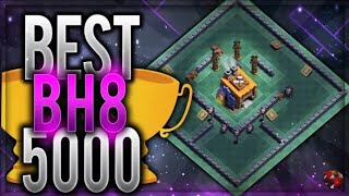 BEST Builder Hall 8 Base PROOF! Live attack +5000 CUPS! | CoC BH8 Base Design BAS | Clash of Clans
