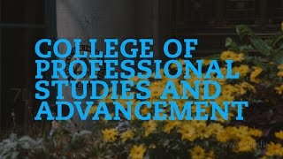 Repeat youtube video The College of Professional Studies and Advancement | National Louis University