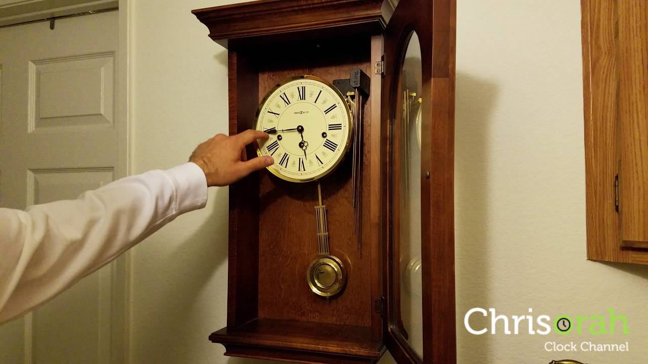 Howard Miller Wall Clock Westminster Chimes Youtube