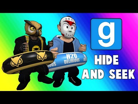 Gmod Hide and Seek Funny Moments - Pool Floaty Party! (Garry's Mod)