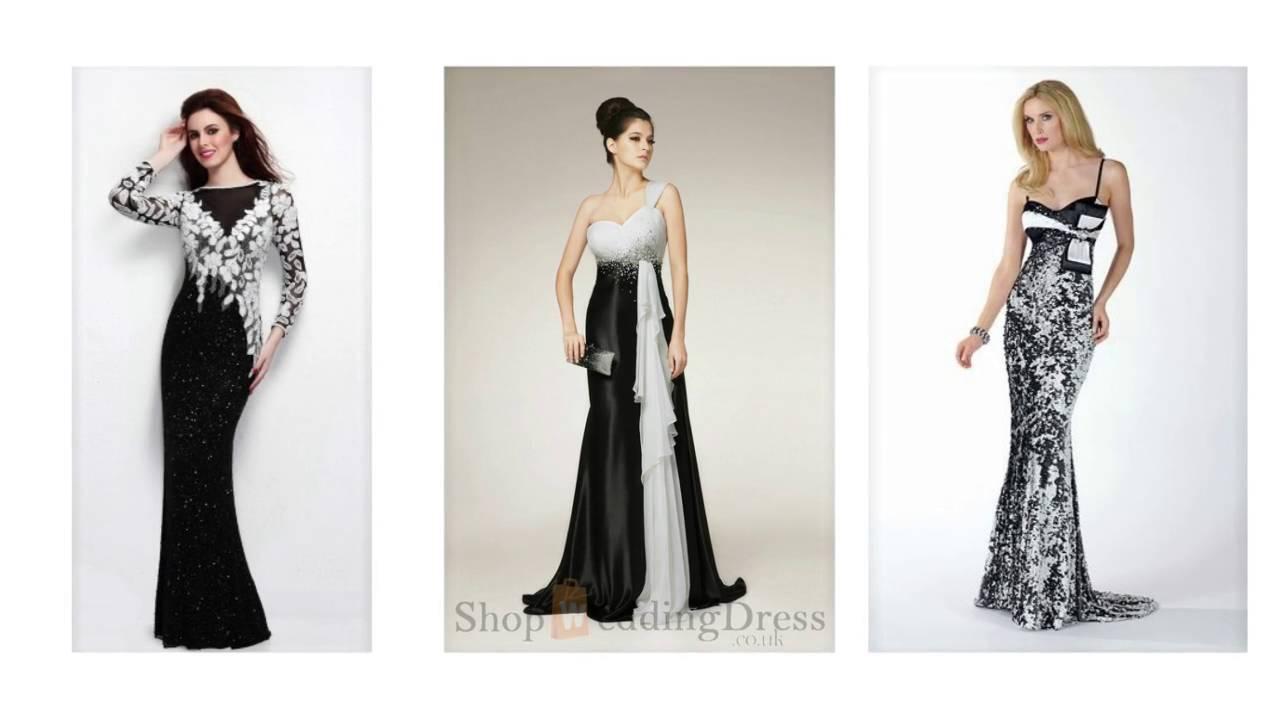 Abendkleid Schwarz Weiss, elegante kleid schwarz weiß ...