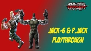 Tekken Tag Tournament 2 - [Medium - Arcade Battle] - Jack-6 & P.Jack Playthrough