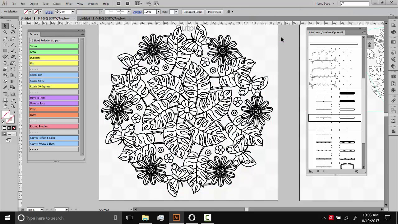 Making Tropical Mandalas with illustrator