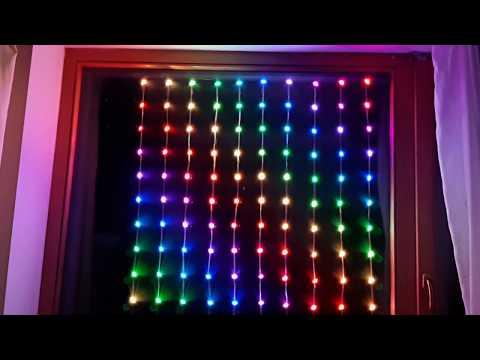 Уникальная RGB LED светодиодная гирлянда, 22 эффекта, текст, рисование, 2 игры
