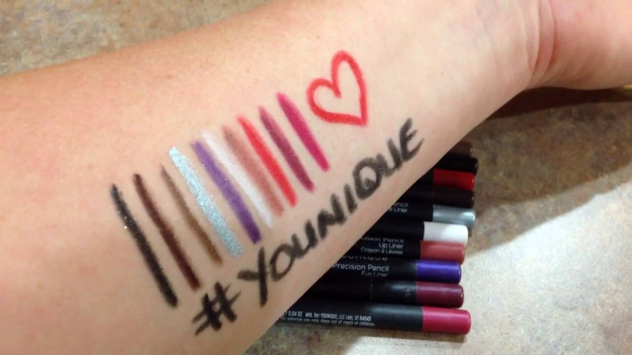 4b422ac9505 Waterproof Lip and Eye Liner - Younique Precision Pencils - YouTube