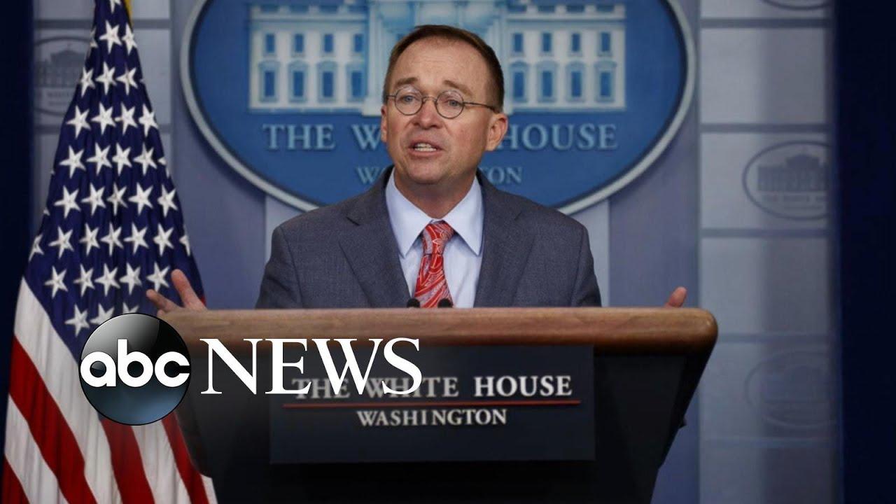 Trump Fires Chief of Staff Mick Mulvaney