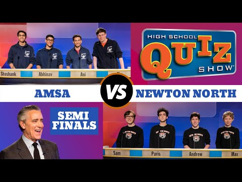 High School Quiz Show - Semifinal #1: Advanced Math & Science vs. Newton North (713)