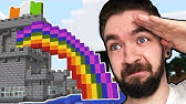 I Built A Rainbow With A POT OF GOLD In Minecraft - Part 23