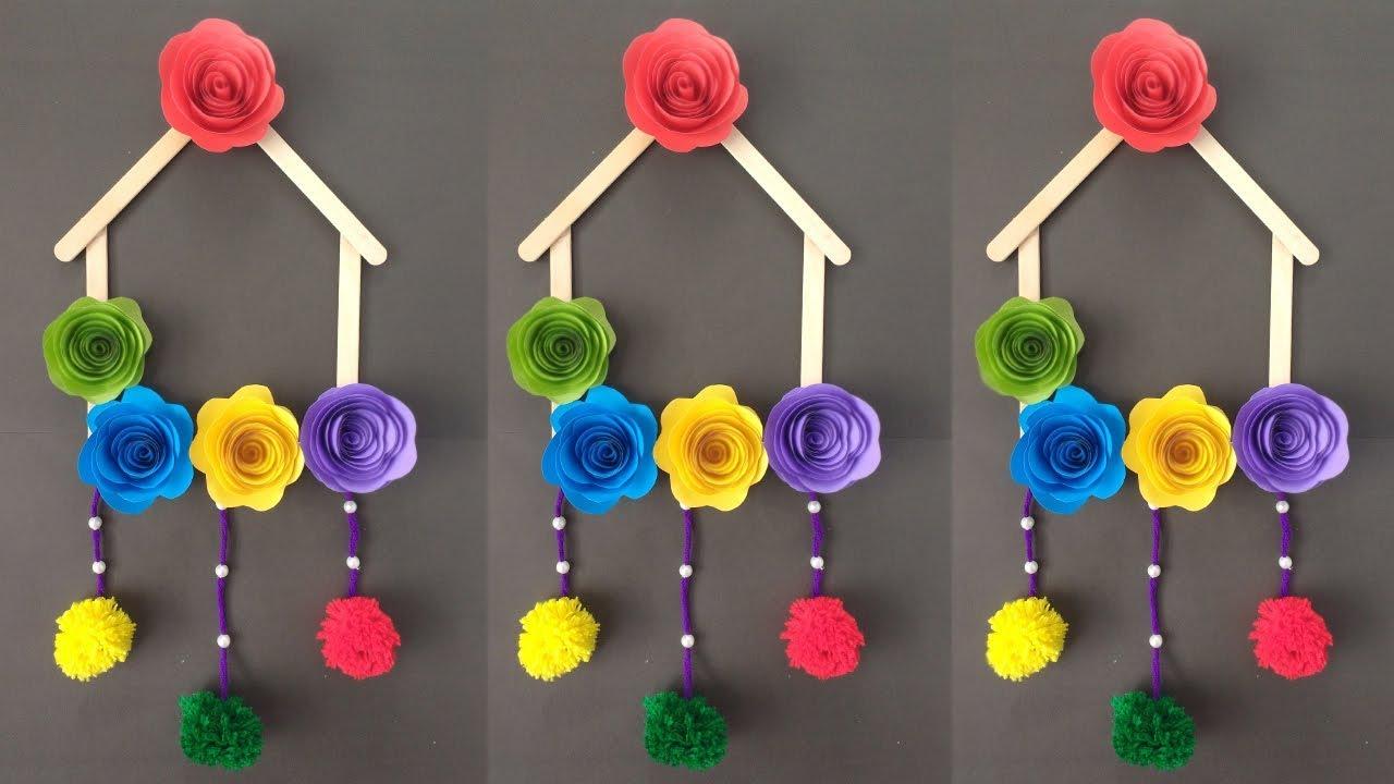 Diy Ice Cream Stick Crafts Diy Wallhanging Ideas With Ice Cream