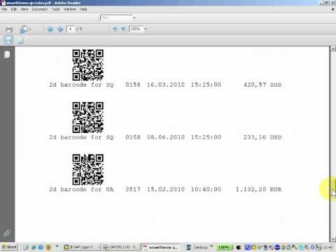2d Barcodes in SAP smartforms for Free
