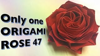 Only one origami rose 47