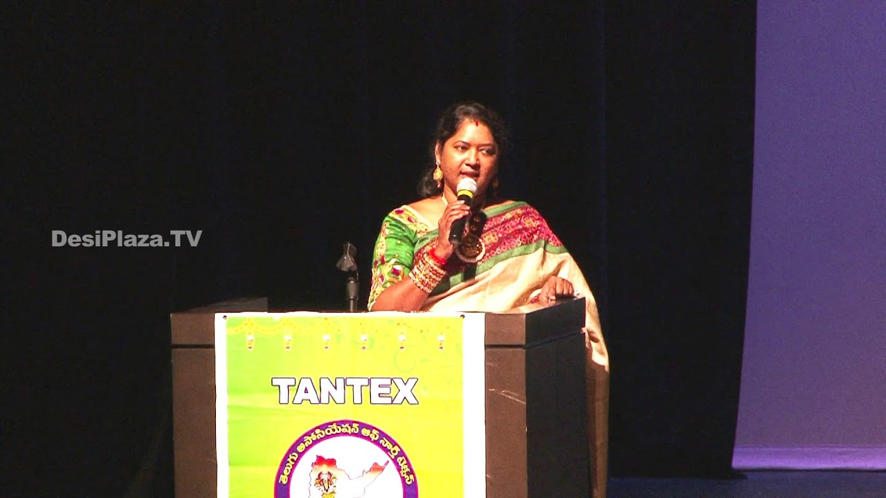 Introduction speech by Jyoti Vanam,Cultural Secretary at  TANTEX Sankarnti Celebrations - 2016