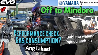 LONG RIDE FUEL CONSUMPTION TEST OF YAMAHA MT09 2020 (OCCIDENTAL MINDORO)